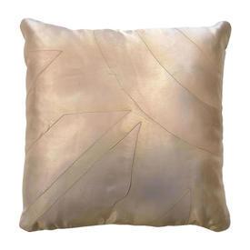 """Cushion 17"""" x 17"""" Cream Sunburst Watercolour Quilted Silk"""