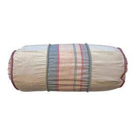 "Bolster 18"" x 7"" Peach Stripe Watersilk"