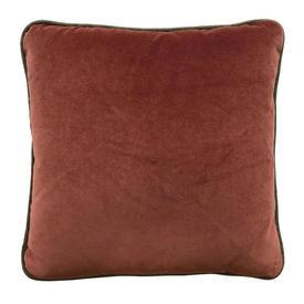 "Cushion 17"" x 17"" Rust Velvet / Piped"