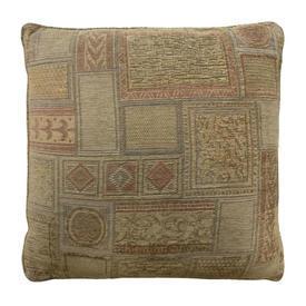 """Cushion 21"""" x 21"""" Sand Geo Chenille"""