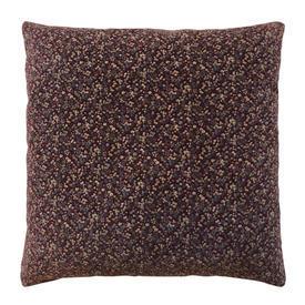 """Cushion 16"""" x 16"""" Plum Teeny-Tiny Floral Print Velvet"""