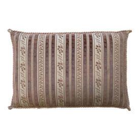 """Cushion 14"""" x 20"""" Rose Stripe Cut Velvet / Corded"""