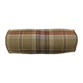 "Bolster 16"" x 6"" Olive / Heather Plaid Wool"