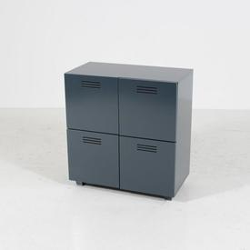 Graphite Grey Vented Chest Of 4 Door Storage Unit