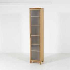 Voice Azzaro 6' Tall Oak Single Glazed Door Cabinet on Legs
