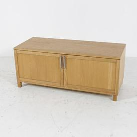 Voice Azzaro Light Oak Low Wide 2 Door Unit Cabinet