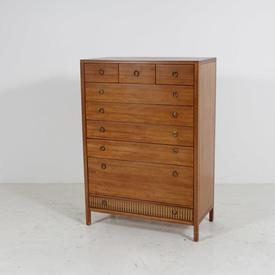 Sapelle 9 Drawer 1 Gilt Strip Chest Of Drawers