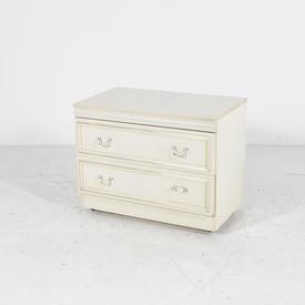 Low Cream 2 Drawer Brass Knocker Handle Chest