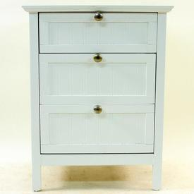 Ancona White Wash 3 Or 4 Drawer Bedside Cabinet