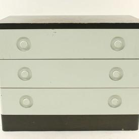 70'S Stag Off White & Grey Oak 3 Drawer Chest