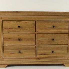 Loire  French Solid Oak 6 Drawer Chest