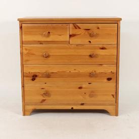 Pine 5 Drawer Bedroom Chest