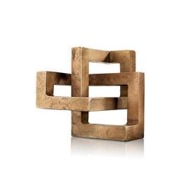 Gold Geometric 'Moebius' Sculpture