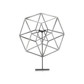Silver Star Hypercube on Black Base