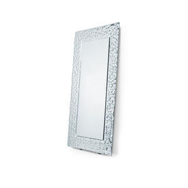 Rectangular ''Venus'' Silver Relief Frame Lean To Mirror