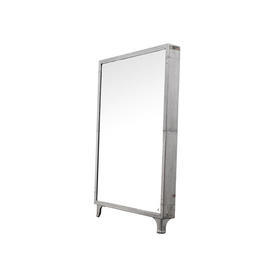 Large Polished Ali Riveted industrial Mirror