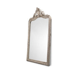 Extra Large Aged Silver Ornate Mirror