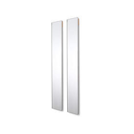 Slim Rectangular Silver Framed Wall Mirror