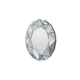 Small Circular Faceted Wall Mirror