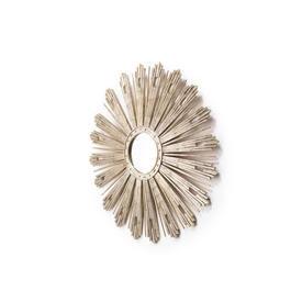 Circular Silver Starburst ''Florence'' Mirror