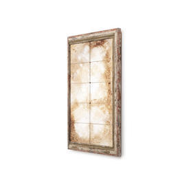 Antique Gold Distressed Small Panel Mirror