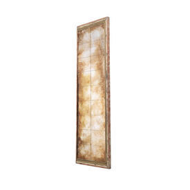 Antique Gold Distressed Large Panel Mirror