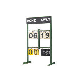 Green Metal Old Style Cricket Score Board