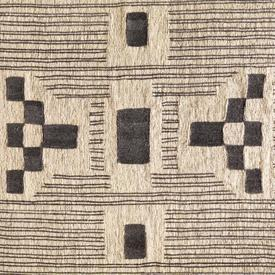 Natural & Grey Yenta Handwoven ''Jute'' Rug