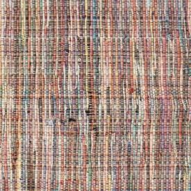 Coloured Striped Woven Rug