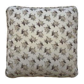 "Cushion 15"" x 15"" Cream / Brown Laura Ashley Small Floral Bouquets"