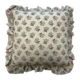 """Cushion 15"""" x 15"""" Cream / Khaki Laura Ashley Small Floral Bouquets"""