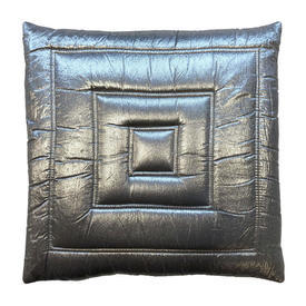 """Cushion 15"""" x 15"""" Silver Square Quilted Lurex"""
