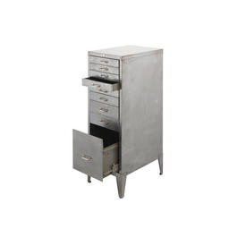 Polished Chrome 9 Drawer Filing Cabinet