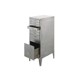 Polished Chrome 9 Drawer Filing Cabinet