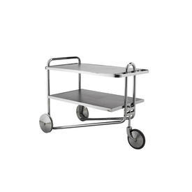 "Black & Chrome 2 Tier ""M.B"" Three Wheel Trolley"