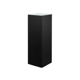 Black Square Thin Pedestal with Frosted Glass Top