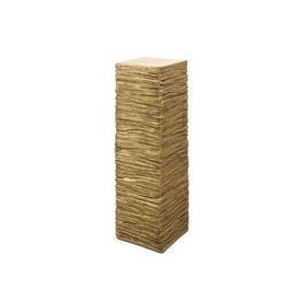 Gold Slate Ledgestone Pedestal