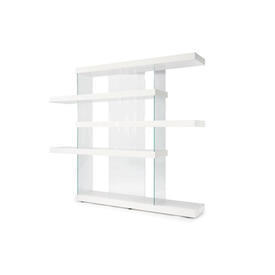 White Lacquered & Glass ''Air'' Shelving Unit