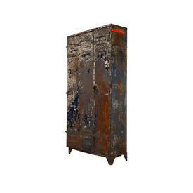3 Door Rusted Metal Locker