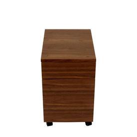 Walnut Finish Silverline 2/3 Drawer Desk Pedestal