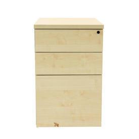 Maple Mobile 3 Drawer Co Desk Pedestal V2