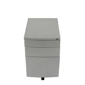 Silver Metal Co 3 Drawer Bow Front Desk Pedestal