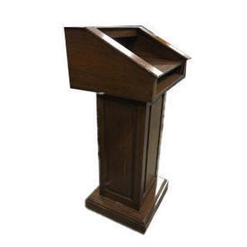 Dark Stained Oak Panelled Lectern