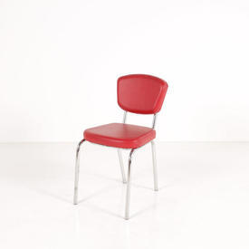 Casa Red Vinyl And C/P Paola Chairs