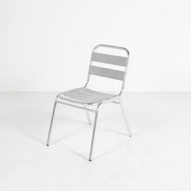 French Slatted Ali Cafe Chair without Arms