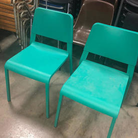 Green Resin Cafe Chair