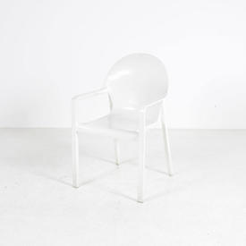 White Resin Arper Juno Cafe Chair