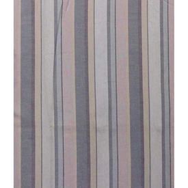 Pair Drapes 6' x 5' Airforce Faded Stripe Cotton
