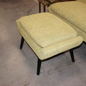 Yellow & Blue Flec Footstool