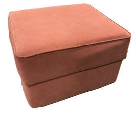 Terracotta Cotton Fabric Game on Storage Footstool